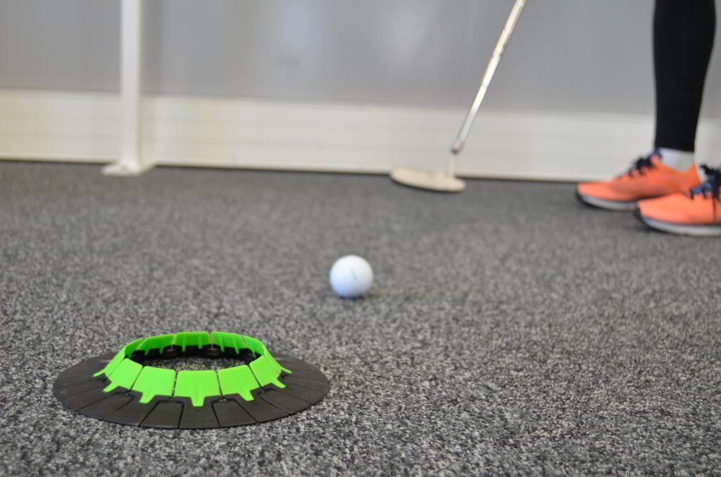 Mini-golf dans la salle