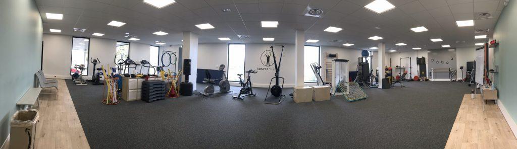 Panorama de l'intérieur de la salle